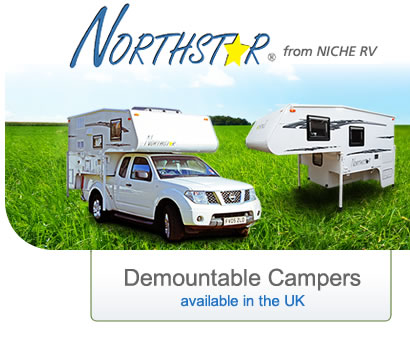 Northstar demountable campers available in the UK